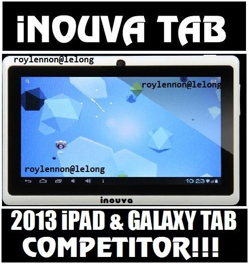 INOUVA ACID TRAY 8GB DUAL CAM TABLET PC ALLWINNER A13 IPAD GALAXY TAB