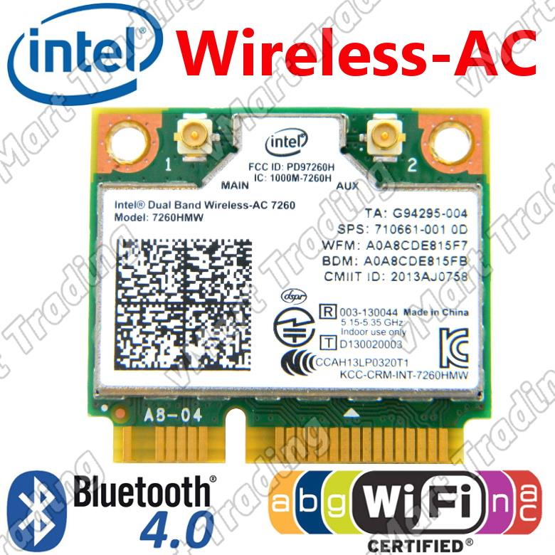 Intel Dual Band Wireless-AC 7260 Plus Bluetooth 4.0 [Mini-PCIe]