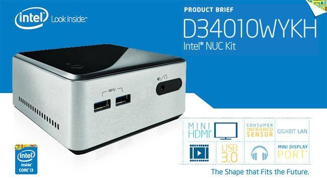 INTEL NUC KIT D34010WYKH MINI PC (BOXD34010WYKH3)