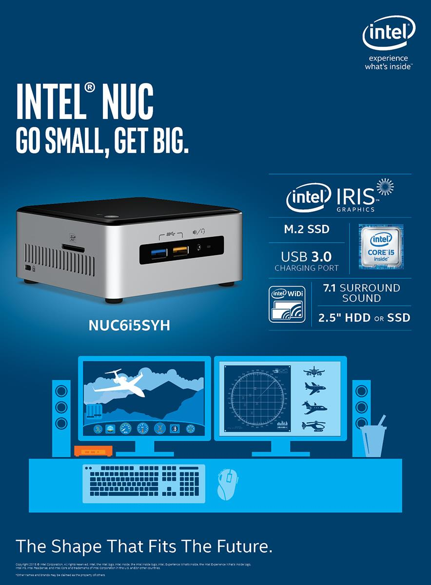 # INTEL NUC KIT i5 NUC6i5SYH MINI PC (BOXNUC6i5SYH)