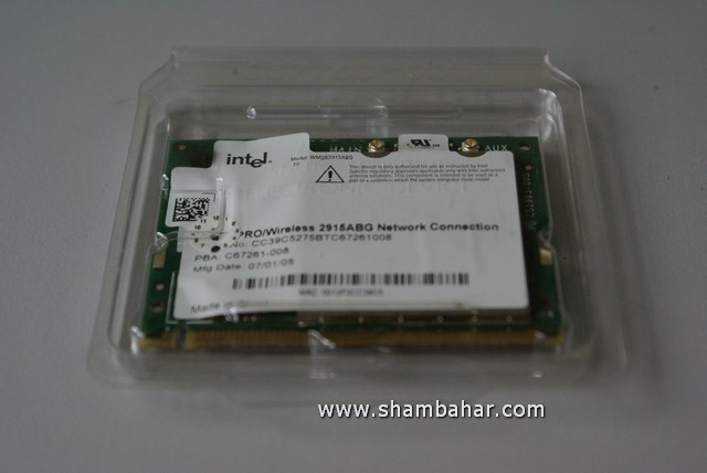 Intel Pro Wireless Card 2915 ABG FOR NOTEBOOK.