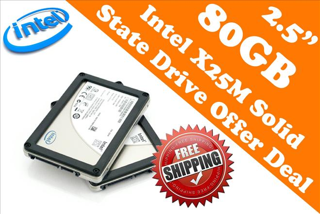 Intel X25-M 2.5' 80GB SSD Sata 3GB/s(8 Seconds Only to Boot Windows 7)