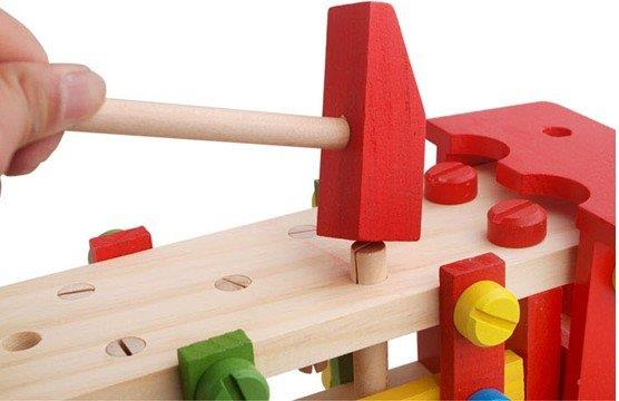 Intelligence Wooden Toy Reassembly Screw Truck - 160602