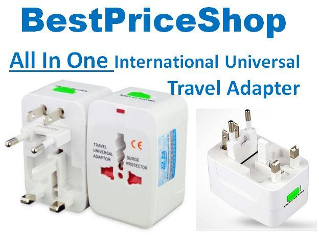 International All in One Universal Power Travel Adapter Plug Converter
