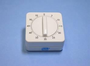 Interval timer, mechanical with alarm, 60 min