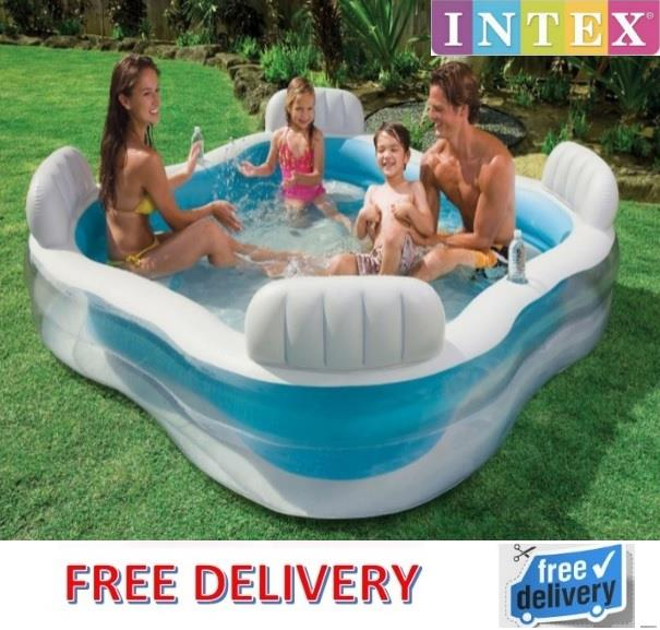 Intex swim center family lounge infl end 6 22 2017 2 15 pm for Inflatable family swimming pool