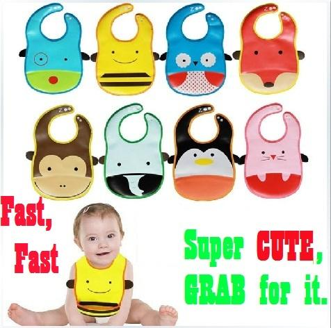 [Intro Price] Lovely Animal Design WATERPROOF Bib with POCKET