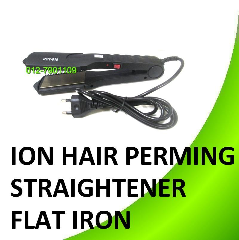 Ion Hair Perming Straightener Flat Iron Perm