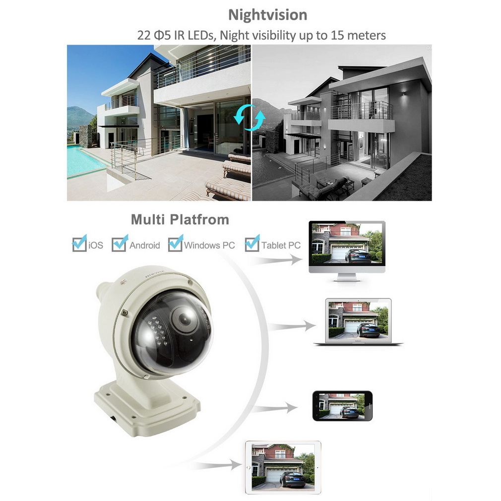 ip camera dome ir night vision wifi end 12 10 2017 8 12 pm. Black Bedroom Furniture Sets. Home Design Ideas