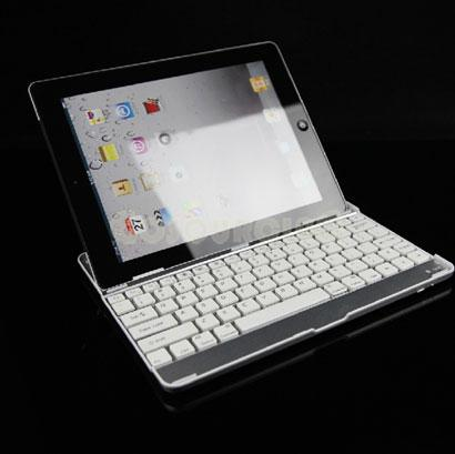 Ipad 2 aluminum cover+bluetooth wireless keyboard dock case for ipad 2..