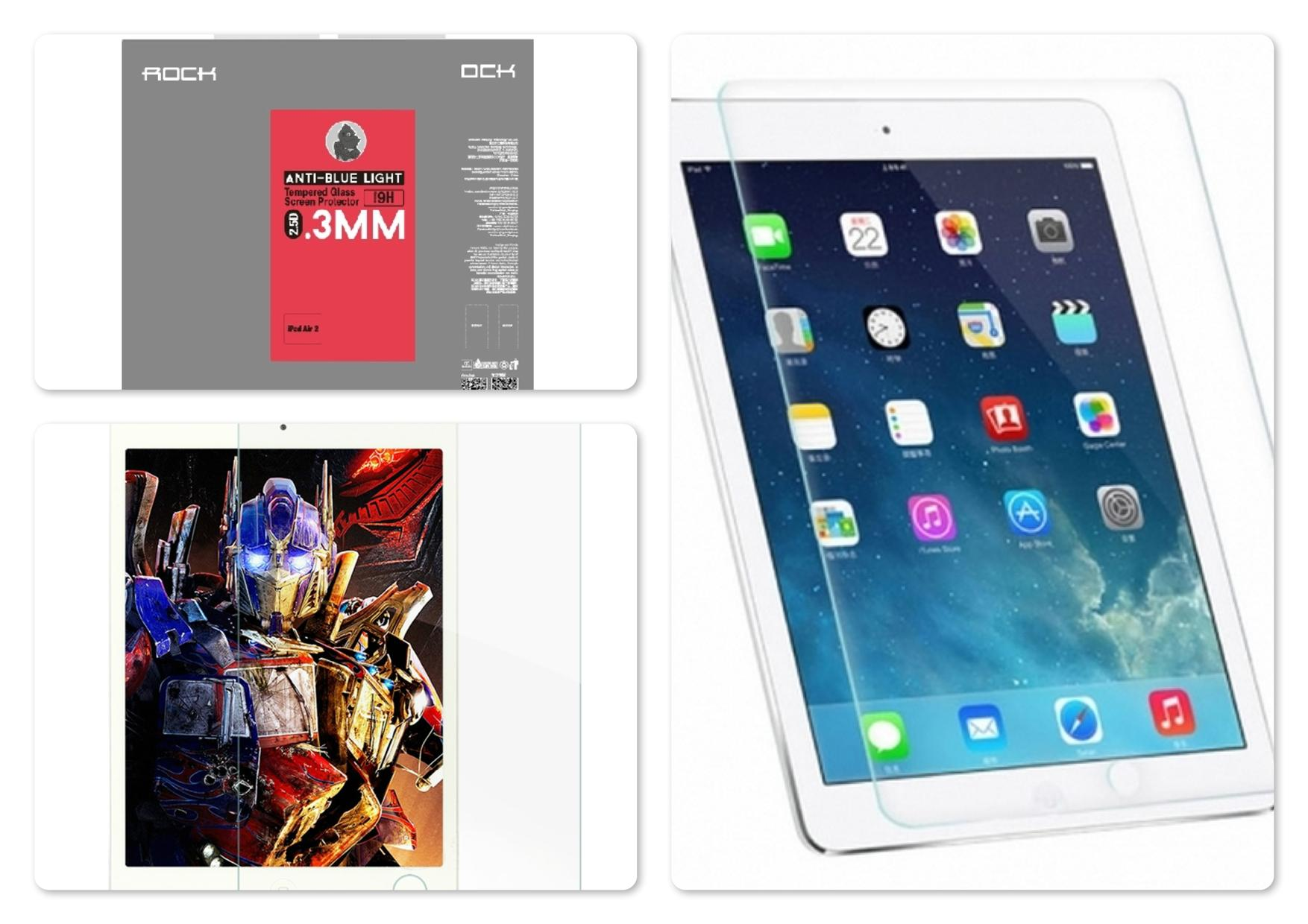 iPad Air 2 Rock Anti Blue-Light 2.5D 0.3mm Tempered Glass Protector
