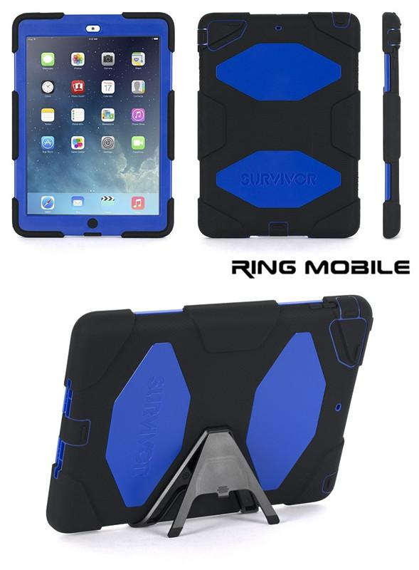 iPad Air Griffin Survivor Protective Case - Blue = Original