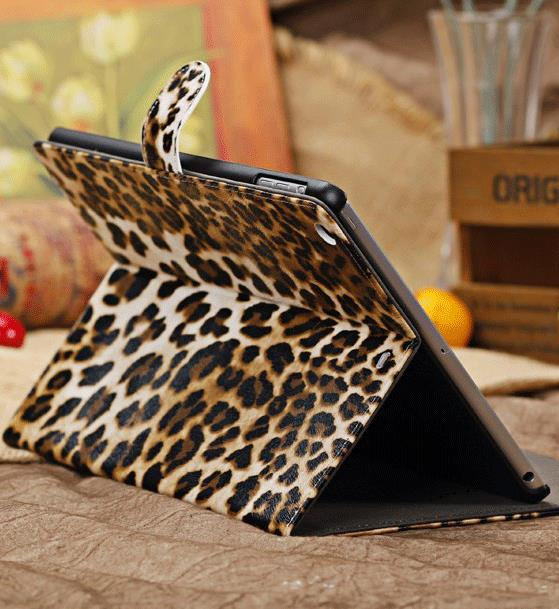 Ipad Air Leopard PU Leather Case 15306