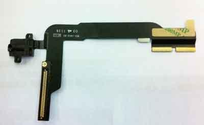 ipad3 ipad4 H/F Handfree Jack Plug In Flex Cable Ribbon ipad 3 4