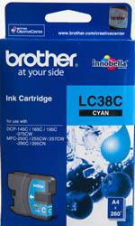 IPG. BROTHER INK CARTRIDGE LC-38 CYAN 260 PAGES