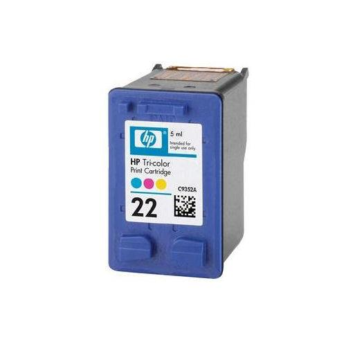 IPG. HP INK CARTRIDGE 22 TRI-COLOR 165 PAGES