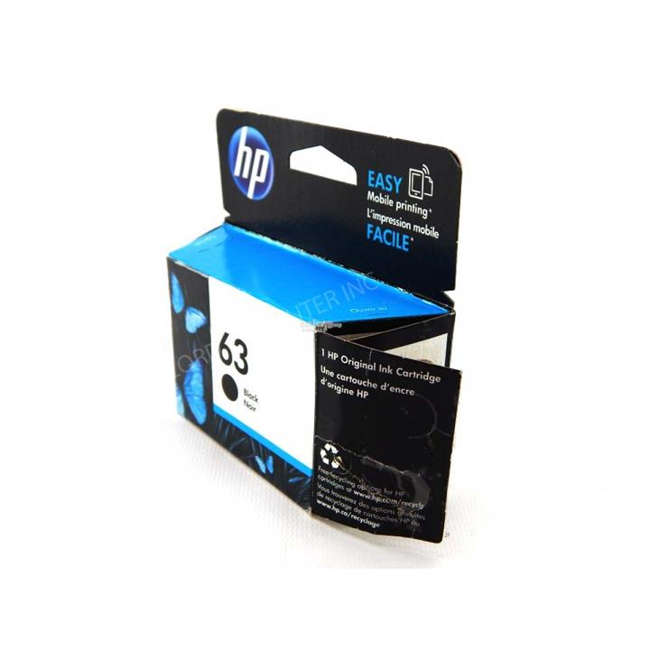 IPG. HP INK CARTRIDGE 63 F6U62AA BLACK 190 PAGES