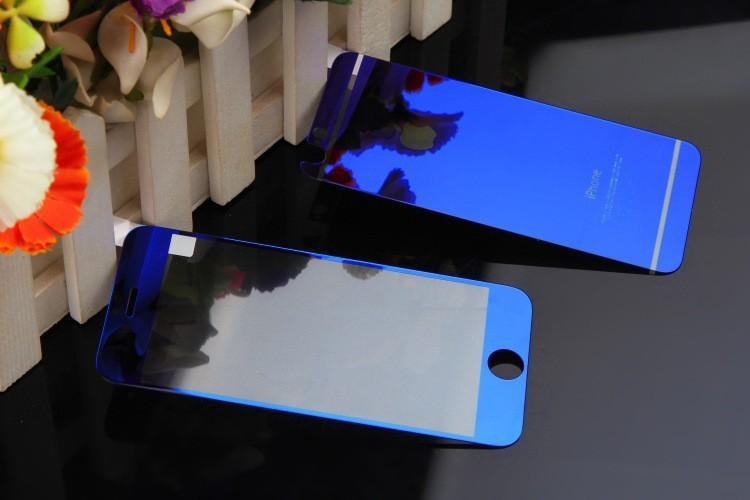 #Iphone 4 #4S Color Mirror Tempered Glass Screen Protector Front Back