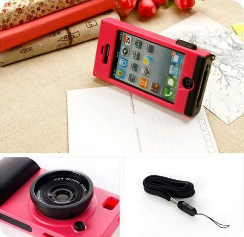 iPhone 4/5/5s Korean Camera Design Phone Casing Case Cover Silicone