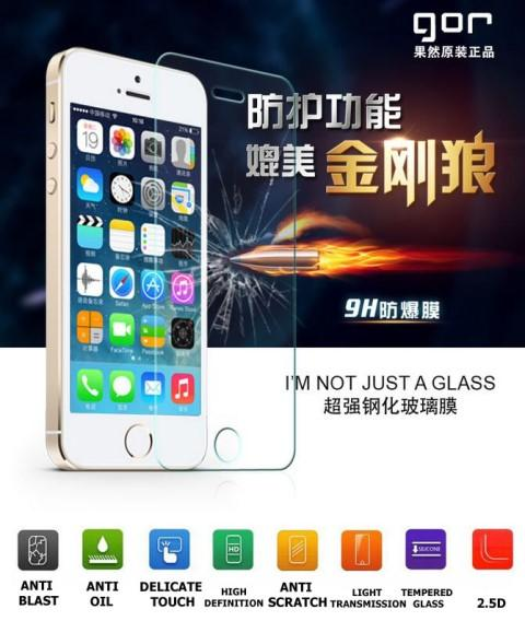 Iphone 4 5 6 Note 2 3 4 Xiaomi Mi3 GOR Tempered Glass Screen Protector