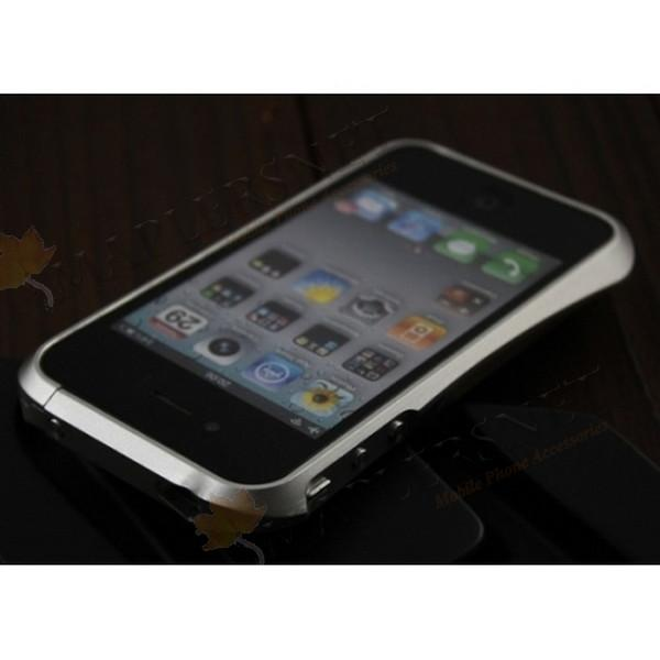 iPhone 4 4S Deff Cleave Aluminium Metal Bumper Case Casing [Silver]