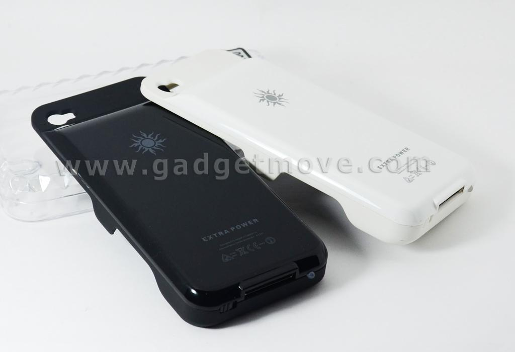 Iphone 4S 4  High Capacity power pack Extended battery back case cover