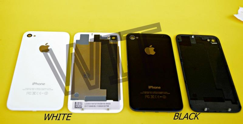 iphone 4s 4gs Battery Back Cover Glass Housing B/W Colour Sparepart