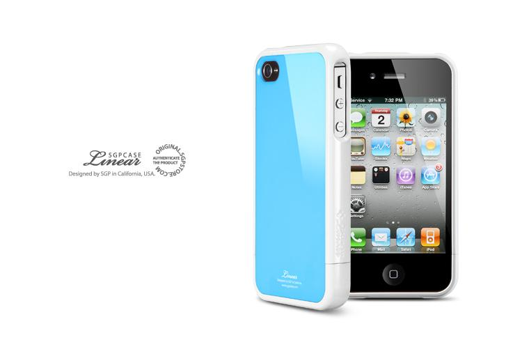 iPhone 4S Case SGP Linear Color Series Casing [Tender Blue]