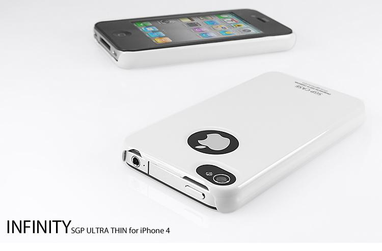 iPhone 4S Case SGP Ultra Thin Vivid Series Casing [Infinity White]