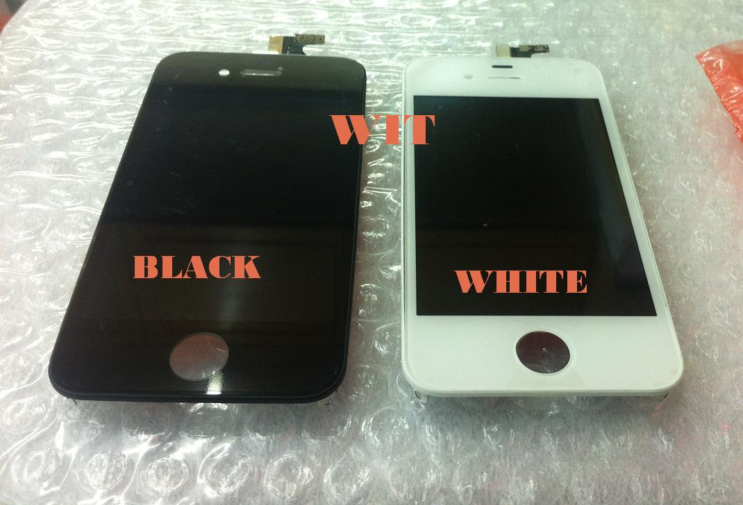 iphone 4S LCD Display & Glass Digitizer Touch Screen B/W Colour