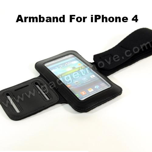 Iphone 4S Sport Armband for iPhone 4S / 4/ All iPod leather case