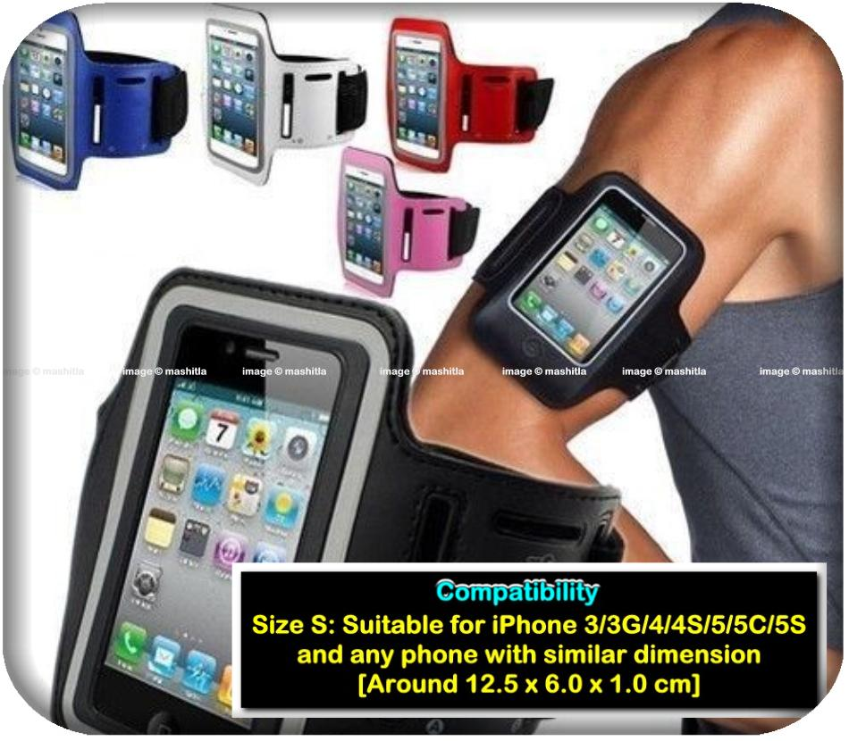 iPhone 5 5C 5S Fluorescent Reflective Sports Armband Mobile Phone Case
