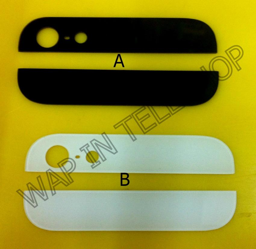 iphone 5 5g 5S Top Up Down Bottom Glass Back Cover Housing Sparepart