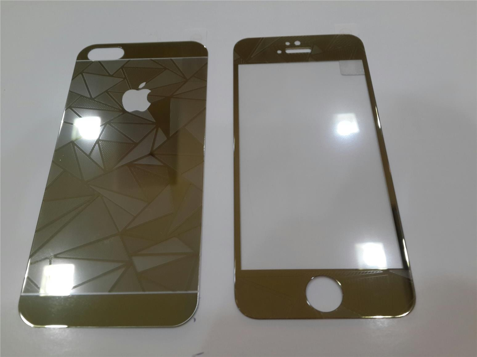 Iphone 5/5S 3D Tempered Glass Front & Back GOLD.