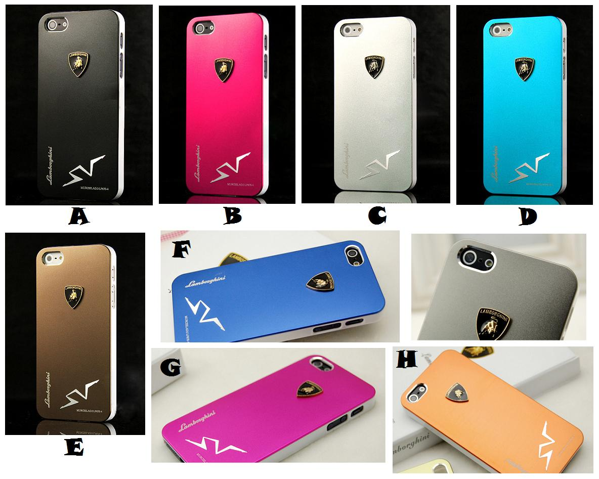 quality design 4021c c443a Lamborghini Case iPhone 5 back Cover with Shiny Metallic Painting