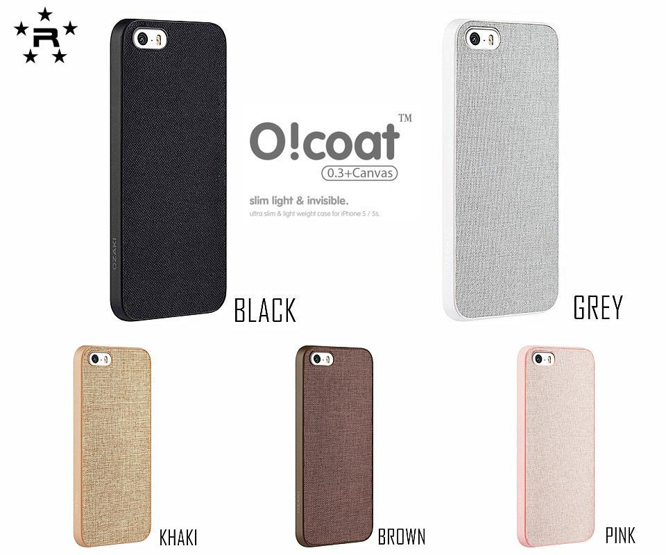 iPhone 5 / 5S Ozaki O!coat 0.3 + Canvas Ultra Slim & Invisible Case