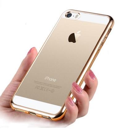 iPhone 5/5S/SE Transparent Silicone Casing Case Cover Round Edges