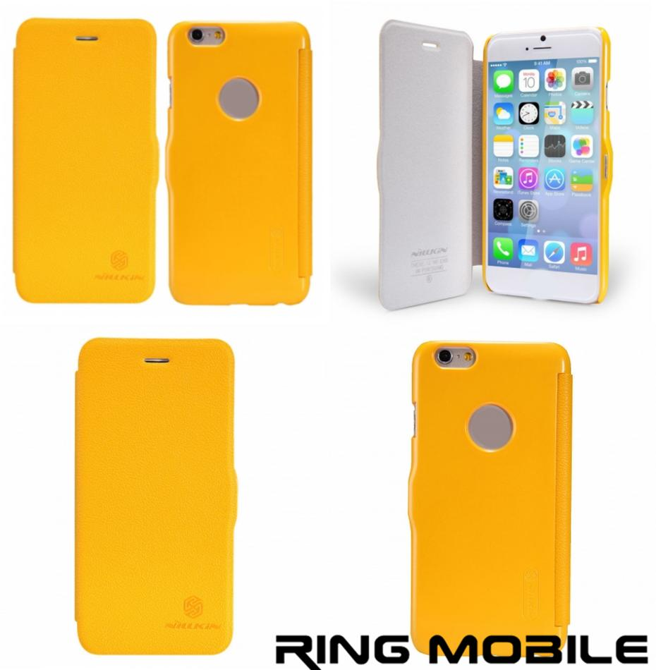 iPhone 6 4.7' Nillkin Fresh Series Leather Case - Yellow - rmtlee