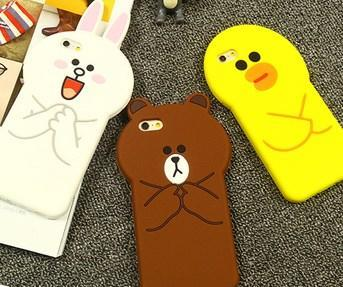 iPhone 6 / 6 Plus / 5s / 4 Line Sally Brown Cony Case Casing Cover