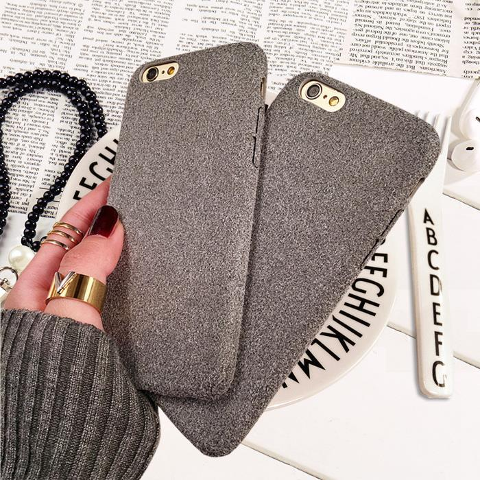 iPhone 6/6 Plus 7/7 Plus Fannel Soft Fur Fiber Casing Case Cover