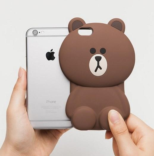iPhone 6 / 6 Plus Line Brown Character Cartoon 3D Case Casing Cover