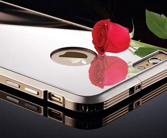 iPhone 6 / 6 Plus Metal Coating Mirror Frame Case Casing Cover