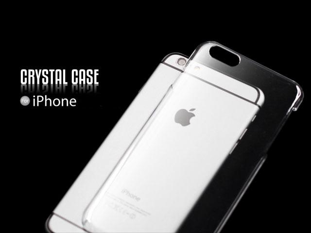 IPHONE 6/6plus 5/5S 4/4S SOLID HARD PURE CRYSTAL CASE