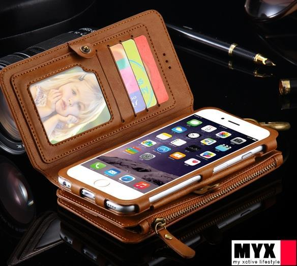iPhone 6/6s 4.7' PU Leather Wallet Business Purse Casing Case Cover