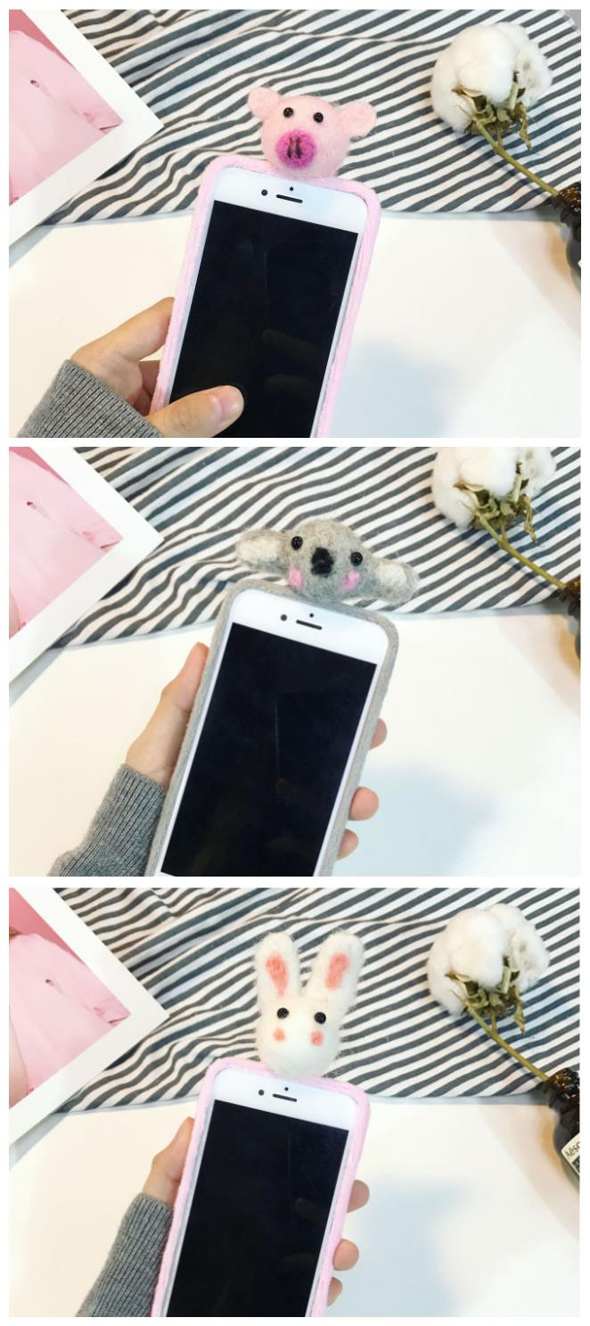 iPhone 6/6s/7 4.7'',6Plus/6sPlus/7 Plus 5.5'' 2D Rabbit Case