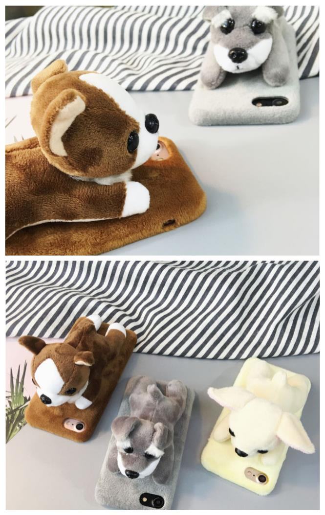 iPhone 6/6s/7 4.7'',6Plus/6sPlus/7 Plus 5.5'' 3D Puppy Case