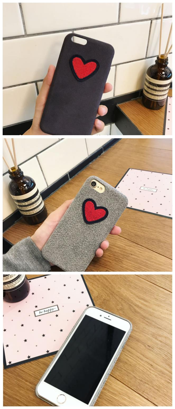 iPhone 6/6s/7 4.7'',6Plus/6sPlus/7 Plus 5.5'' Embroidery Love Case
