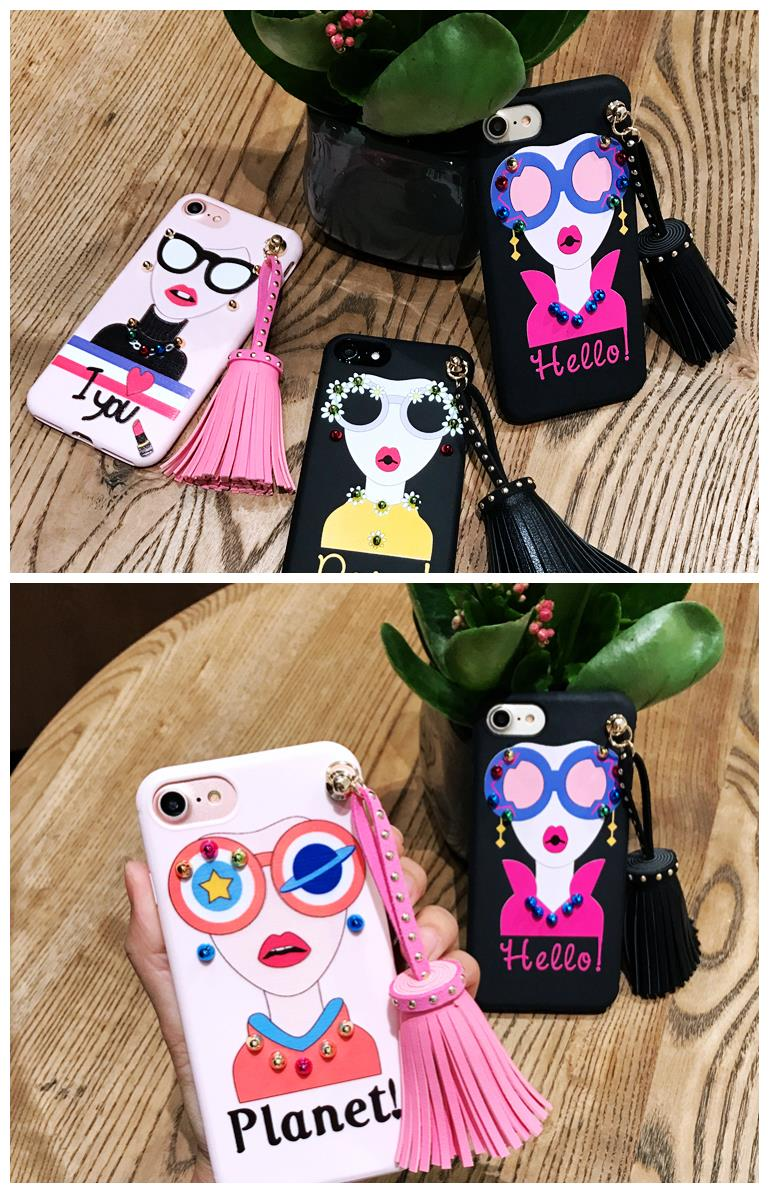 iPhone 6/6s/7 4.7'',6Plus/6sPlus/7 Plus 5.5'' Korea Fashion Case
