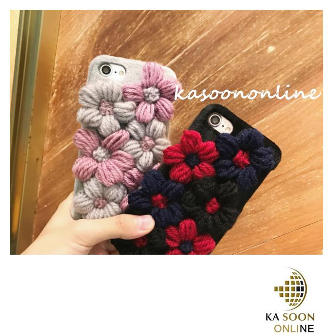 iPhone 6/6s/7 4.7'',6Plus/6sPlus/7 Plus 5.5'' Plush Flowers Case