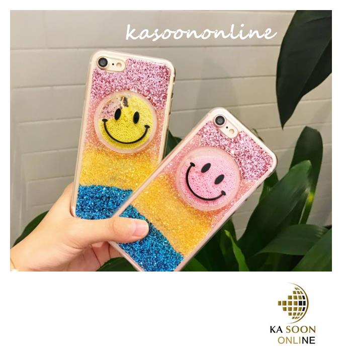 iPhone 6/6s/7 4.7'',6Plus/6sPlus/7 Plus5.5'' BlingBling SmileFace Case
